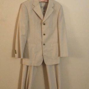 Vintage Balenciaga pin stripe 2 piece pant suit